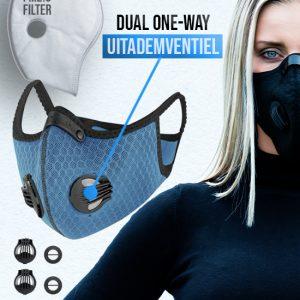 Phantom n95 Z mondmasker mondkapje blauw