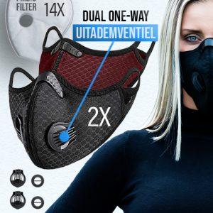 2 x Phantom n95 Z mondmasker mondkapje 14 filter