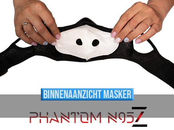 Phantom n95 z masker binnenaanzicht masker