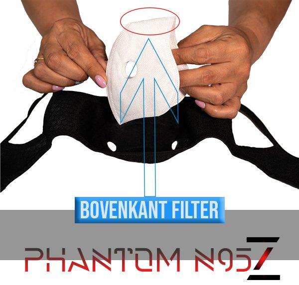 Phantom n95 z masker bovenkant N95 filter