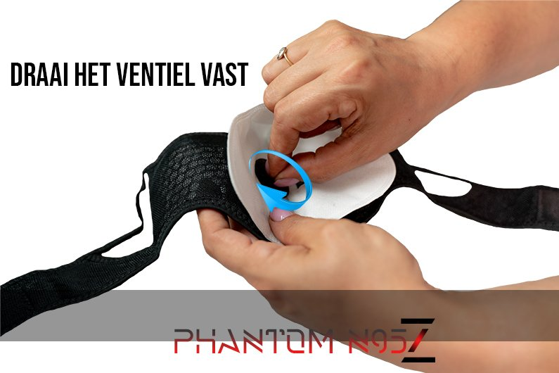 Phantom n95 z masker correcte n95 draai ventiel vast