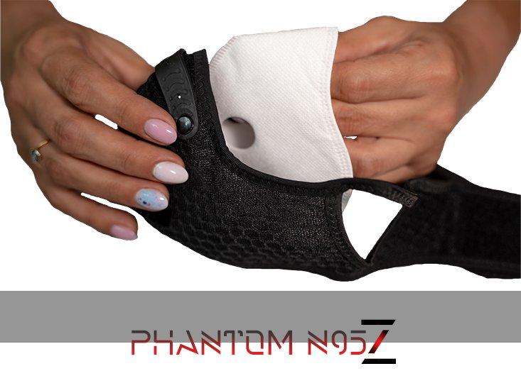 Phantom n95 z masker correcte n95 filter installatie
