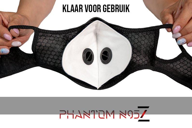 Phantom n95 z masker klaar voor gebruik